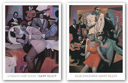 Club Zanzibar and Harlem Nocturne Set by Gary Kelley