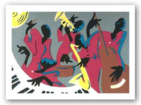Jazz Session I - Serigraph by John Holyfield