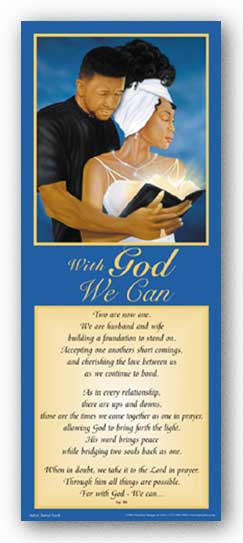 With God - We Can - Statement Blue by Jamal Scott