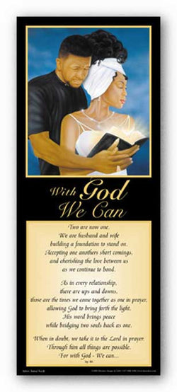 With God - We Can - Statement Black by Jamal Scott