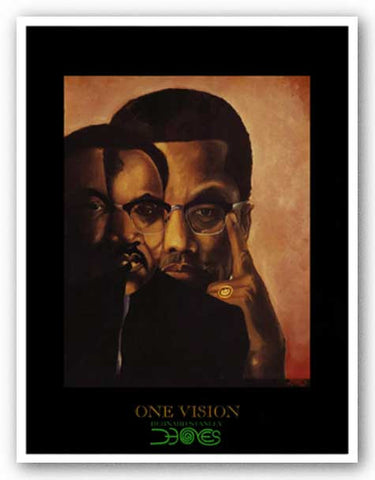 One Vision (Malcolm X, Martin Luther King Jr.) by Bernard Stanley Hoyes