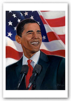 Obama, American Flag by Sterling Brown