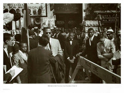 Harlem 1962 Malcolm X Gabe Pressman and Louis Farrahkan by Klytus Smith