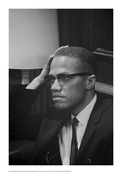 Malcolm X at Martin Luther King Press Conference, Washington DC, March, 1964 by Marion S. Trikosko