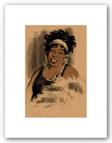 Ma Rainey - Signed Giclee by Clifford Faust