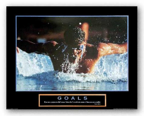 Goals - Swimmer by Motivational