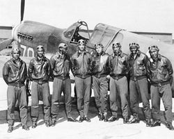 Tuskegee Airmen Posed with P-40 Warhawk, 1945 by McMahan Photo Archive