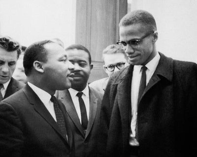 Martin Luther King Jr. and Malcolm X Washington DC March 26 1964 by McMahan Photo Archive
