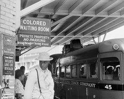 Segregated Bus Stop Durham North Carolina 1940 by McMahan Photo Archive