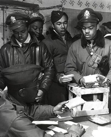WWII African American Pilots in Italy, March, 1945 by McMahan Photo Archive