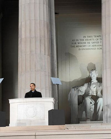 President Barack Obama at Lincoln Memorial, 2009 by McMahan Photo Archive