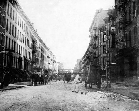 107th Street East from Third Ave Harlem 1912 by McMahan Photo Archive