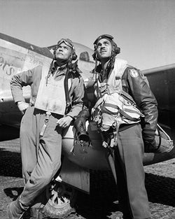Tuskegee Airman Col. Benjamin O. Davis Ramitelli Italy WWII by McMahan Photo Archive