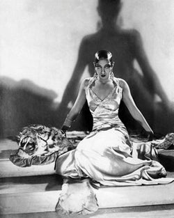 Josephine Baker on Tiger Rug, 1925 by McMahan Photo Archive