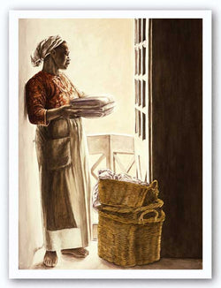 Lady By The Window - Watercolor Giclee by Consuelo Gamboa
