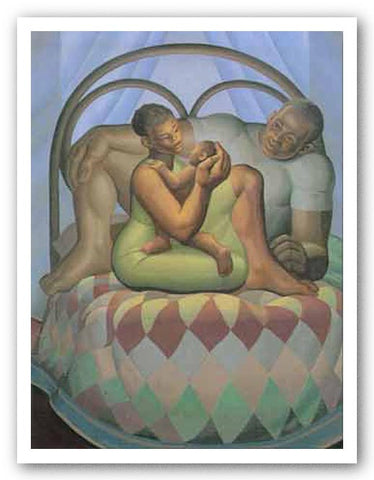 Mother and Child With Father - Limited Edition by Lawrence Finney
