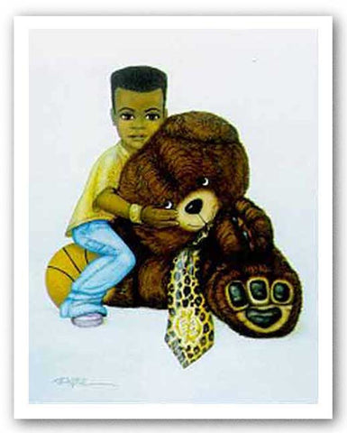 Boy With Teddy Bear by Dexter Griffin