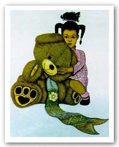 Girl With Teddy Bear by Dexter Griffin