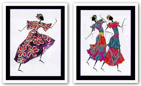Dancing in Red and Purple-Festive Regalia Set by Augusta Asberry