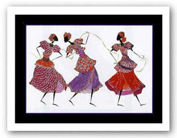 Three Dancers and Gold Ribbon by Augusta Asberry