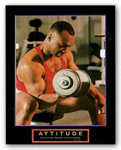 Attitude - Weightlifter by Motivational
