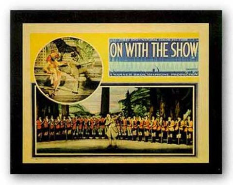 On With The Show by Reproduction Vintage Poster