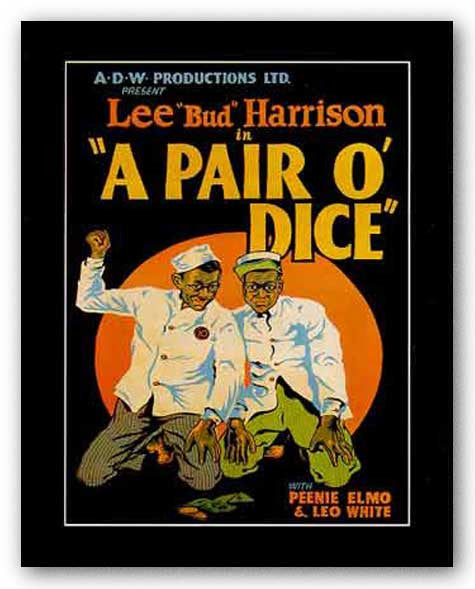 A Pair O'Dice by Reproduction Vintage Poster