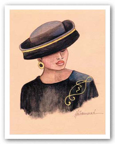 Hattitude - Lady in Midnight Blue by Marcella Hayes Muhammad