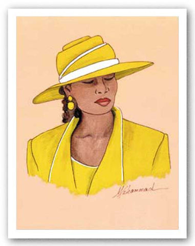 Hattitude - Lady in Yellow by Marcella Hayes Muhammad