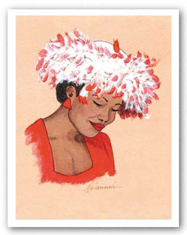 Hattitude - Lady in Red by Marcella Hayes Muhammad