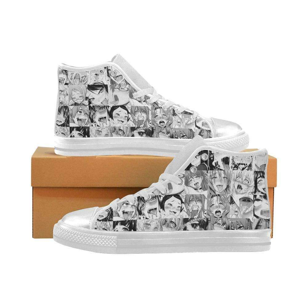 Limited Edition: Ahegao Manga Style Hightop Canvas Shoes