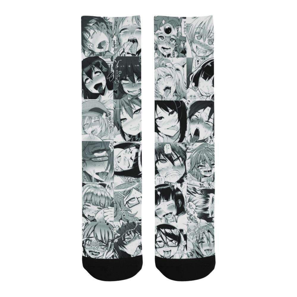 Ahegao Face Crew Socks