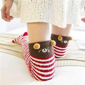 Japanese Mori-Girl Cozy Long Thigh High Socks