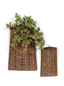 "Baskets (Set of 2) 12""H, 18""H Rattan"