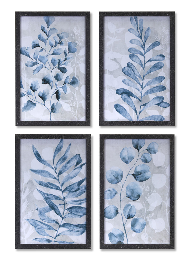 "Foliage Print (Set of 4) 15.75"" x 23.75""H MDF/Glass"