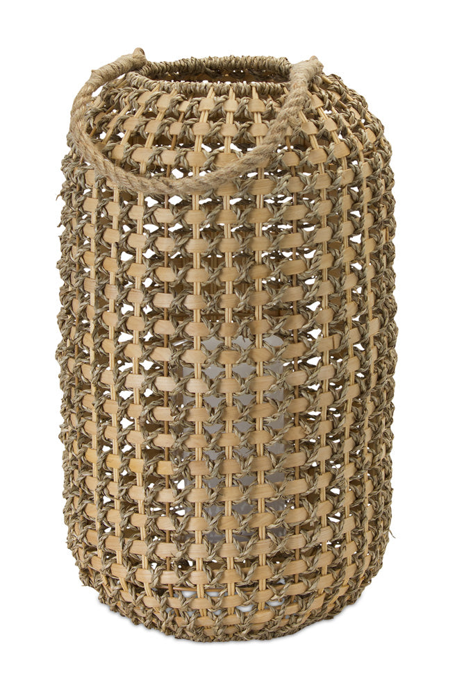 "Candle Holder 17""H Wicker/Metal"