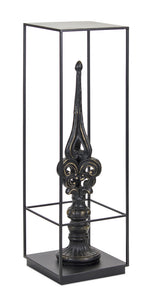 "Finial Plant Stand 11.75"" x 39.5""H Iron/Resin"