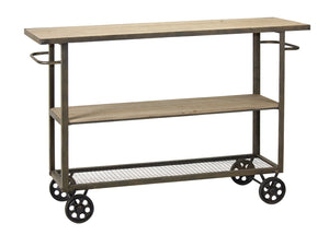 "Cart On Wheels 39""L x 16""W x 32.75""H Iron/Wood"
