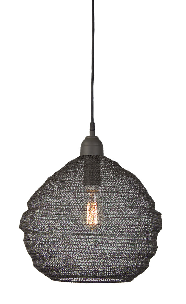 "Hanging Lamp 14.5""H Iron (Max 100W)"