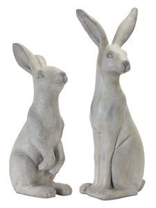 "Rabbit (Set of 2) 19.5""H, 24""H Stone Powder"