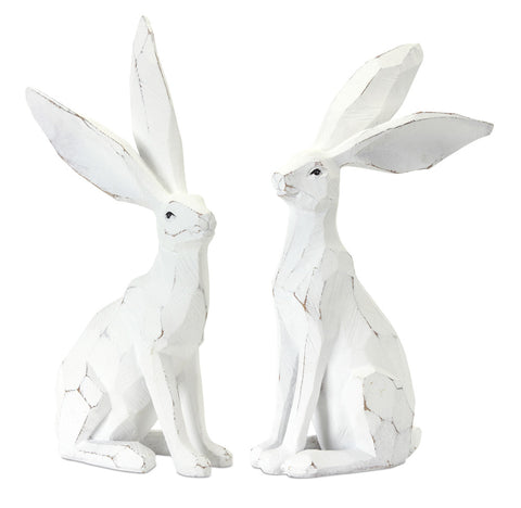 "Rabbit (Set of 2) 12""H Resin/Stone Powder"
