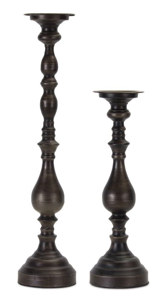 "Candle Holder (Set of 2) 16.75""H, 23.25""H Metal"