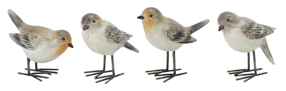 "Bird (Set of 4) 3.75""H Resin"