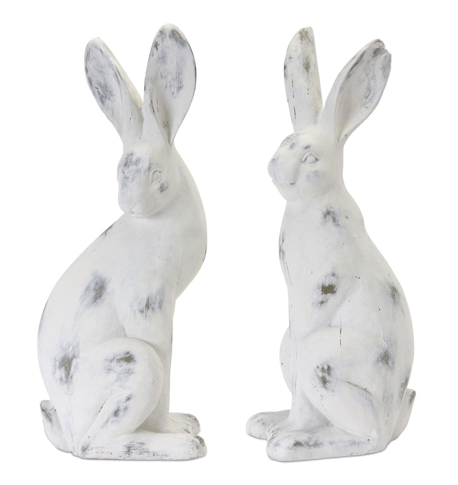 "Rabbit (Set of 2) 16.5""H Cement/Resin"