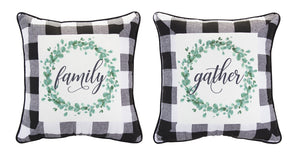 "Word Pillow (Set of 2) 16.5"" Polyester"