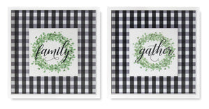 "Word Tile (Set of 2) 15"" x 15"" MDF"
