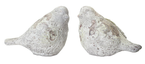 "Bird (Set of 2) 5""H Cement"