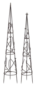 "Obelisks (Set of 2) 62""H, 70""H"