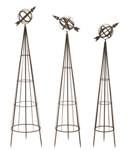 "Obelisks (Set of 3) 56""H, 58""H, 62""H Metal"