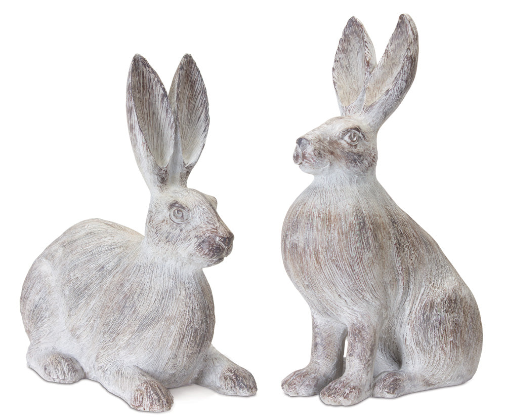 "Rabbit (Set of 2) 15""H, 17""H Resin"